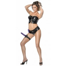 Fetish Fantasy Vibrating Thigh Strap-on - Purple